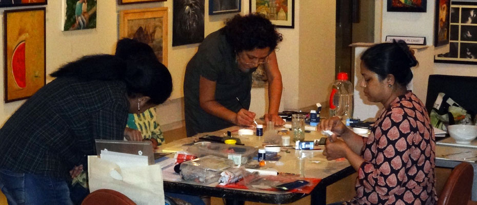 Art Clay Silver workshop in progress